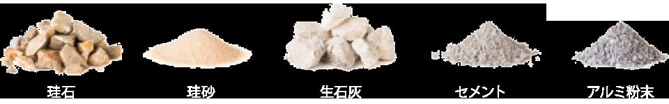 珪石 珪砂 生石灰 セメント アルミ粉末