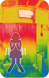 断熱性の低い部屋イメージ